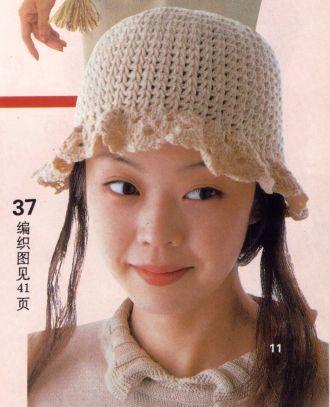 детская летняя шапочка крючком со схемами.  Автор:Admin.
