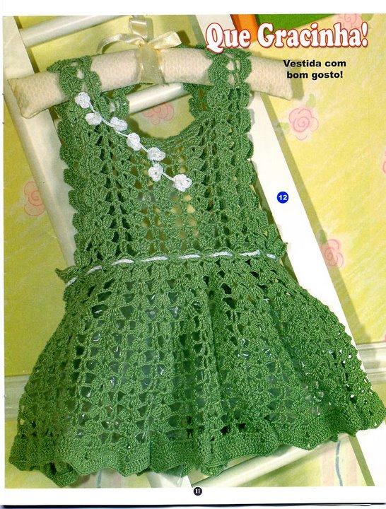 Описание: вязаное платье для девочки крючком.