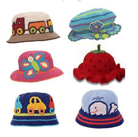 Детские летние шапочки вязаные крючком со схемой. схемы вязания. шапочки.