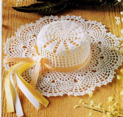 Шляпа крючком, схема вязания шляпы крючком.